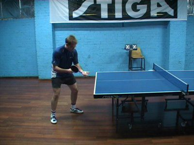 Photo of Forehand Topspin Serve - Ready Position