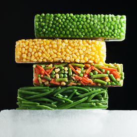 Frozen vegetables can spark in a microwave when plasma is produced.
