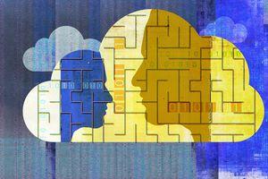 People communicating encrypted data using cloud computing