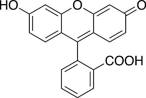 This is the chemical structure of fluorescein.