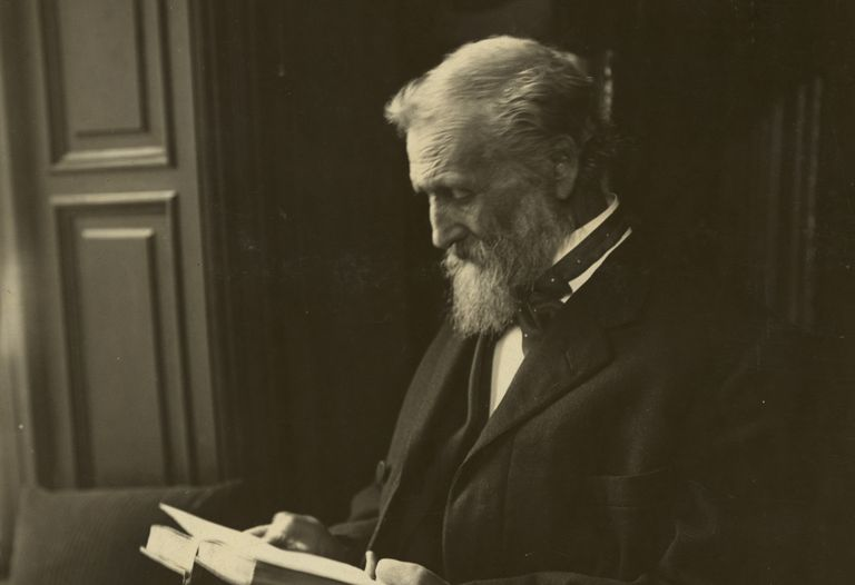 Photograph of John Muir reading
