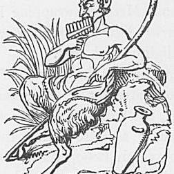 Ein Bild des Gottes Pan aus Keightleys Mythologie, 1852.