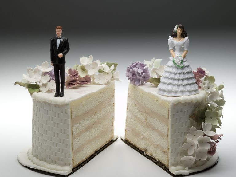 Sliced Wedding Cake