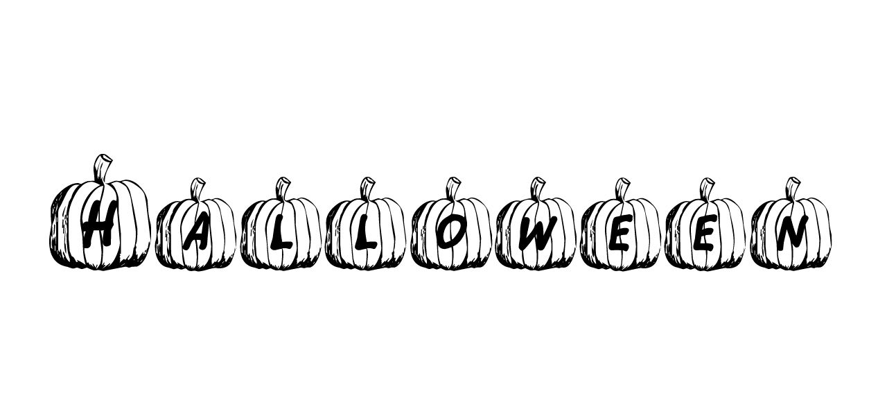 """""""Halloween"""" in the Jack O font."""