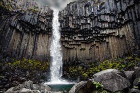 Svartifoss waterfall, Skaftafell, Vatnajokull National Park, Iceland