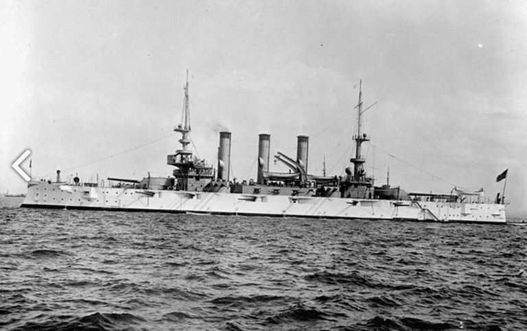 USS Minnesota (BB-22) as part of the Great White Fleet