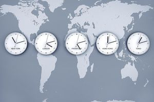 5 clocks for the trading time zones