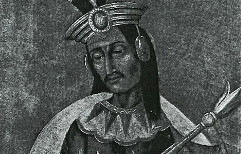 This is a lifetime portrait of Huascar drawed by a member of Pizarro's detachment