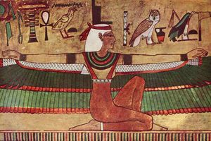 Mural of the Goddess Isis from c. 1380-1335 B.C.