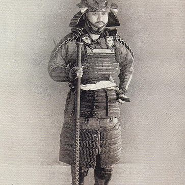 Photo of Tokugawa-era samurai in full armor