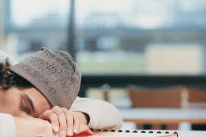 Student sleeping on desk