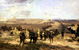 Battle of Amiens painting