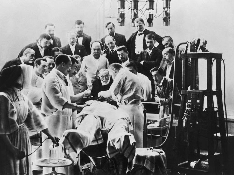 Pathologist Rudolf Virchow Observing Operation