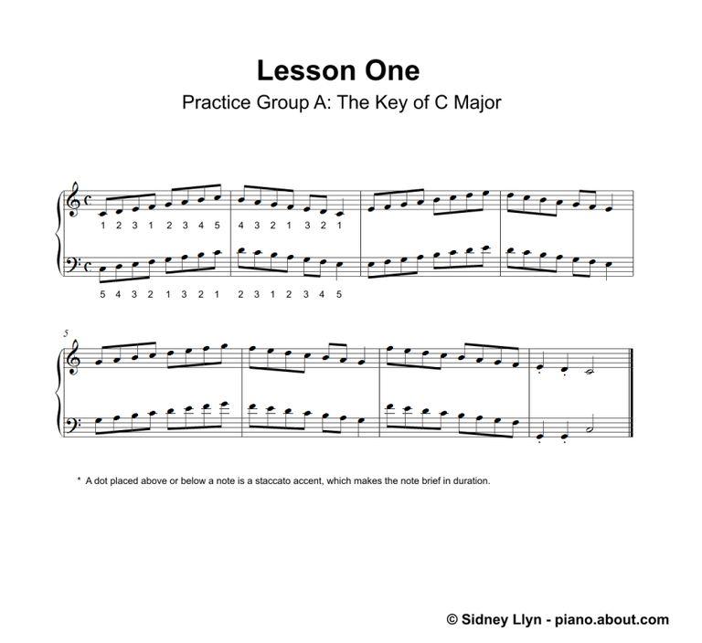 Printable Piano Lesson Book