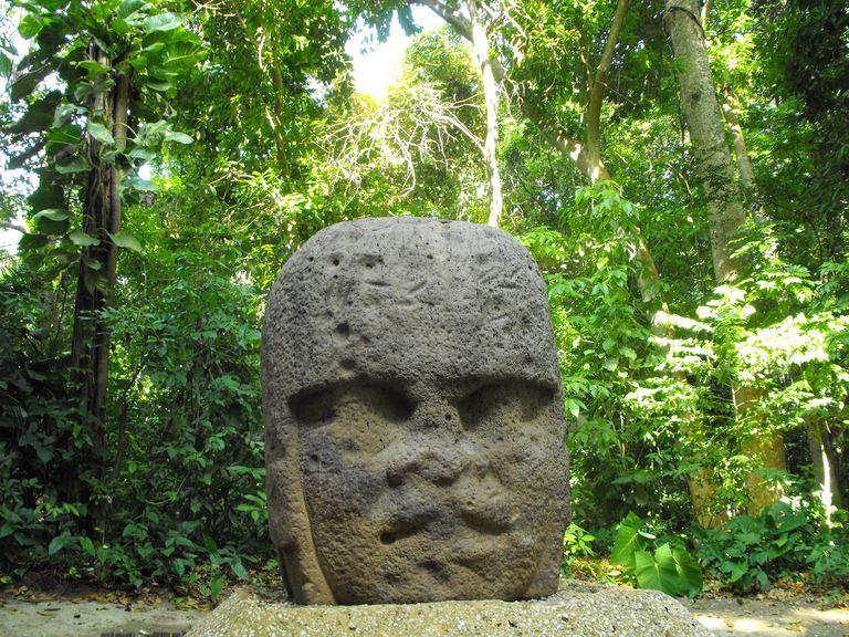 Olmec Head in Villahermosa