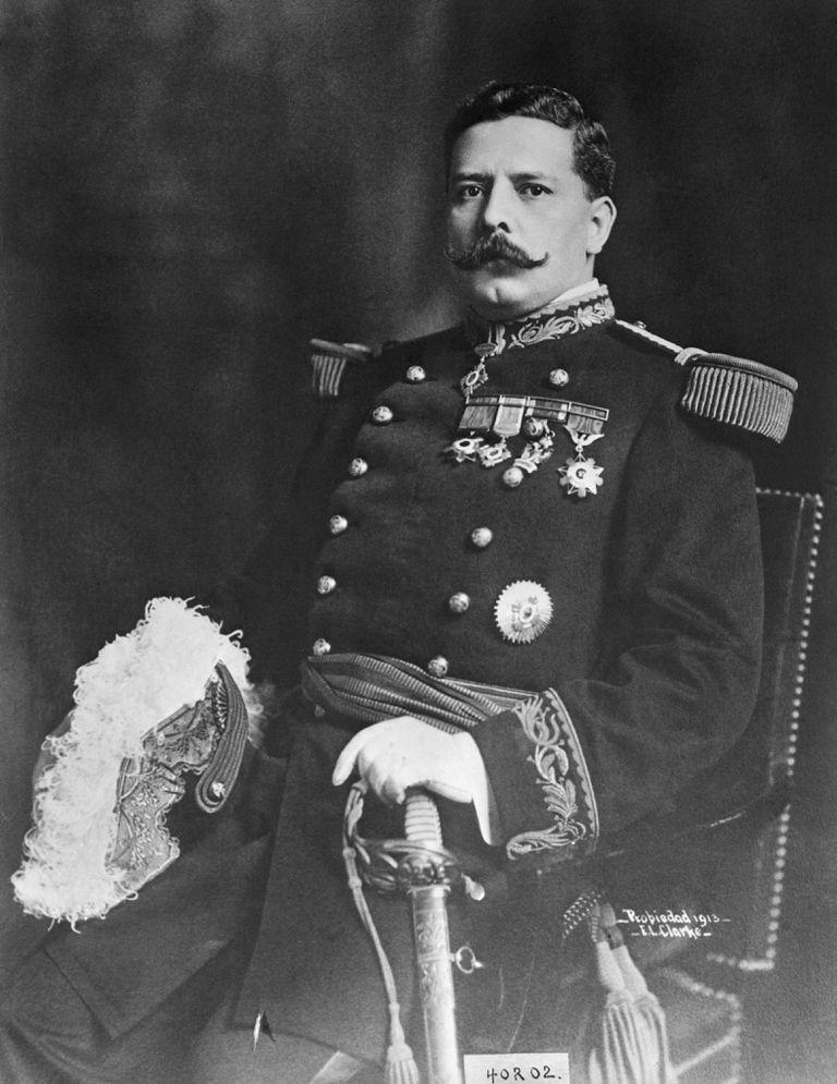 Portrait of Felix Diaz Wearing Uniform