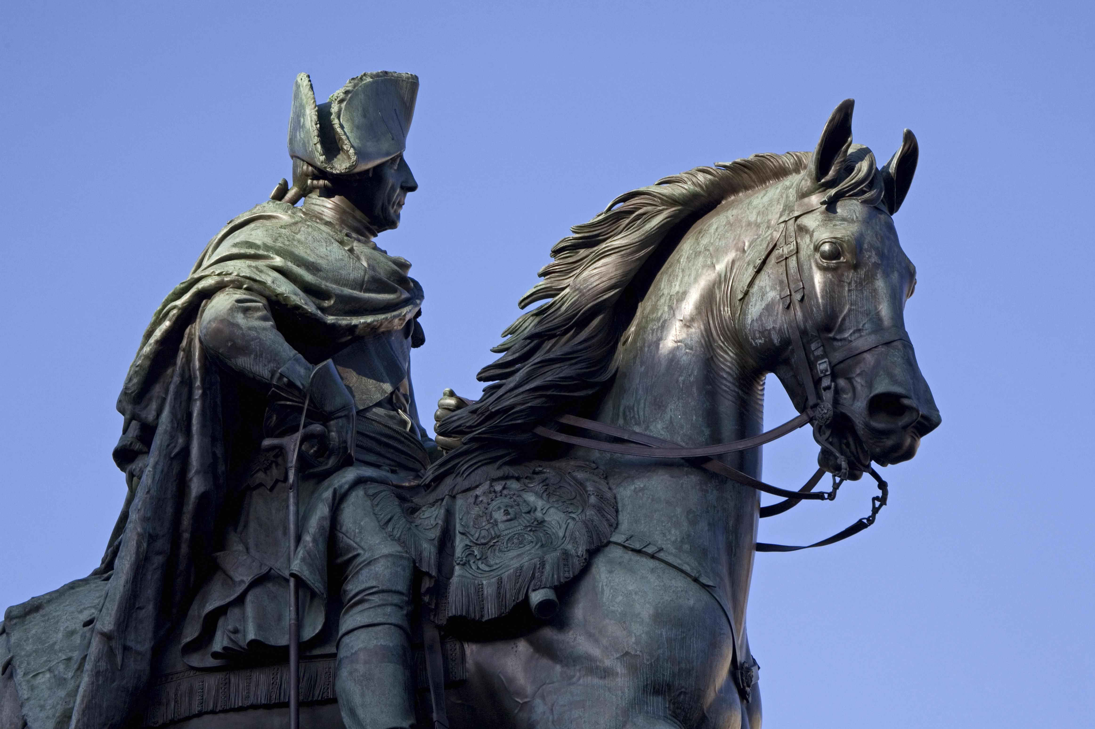 Equestrian statue of Frederick the Great in Berlin, Germany