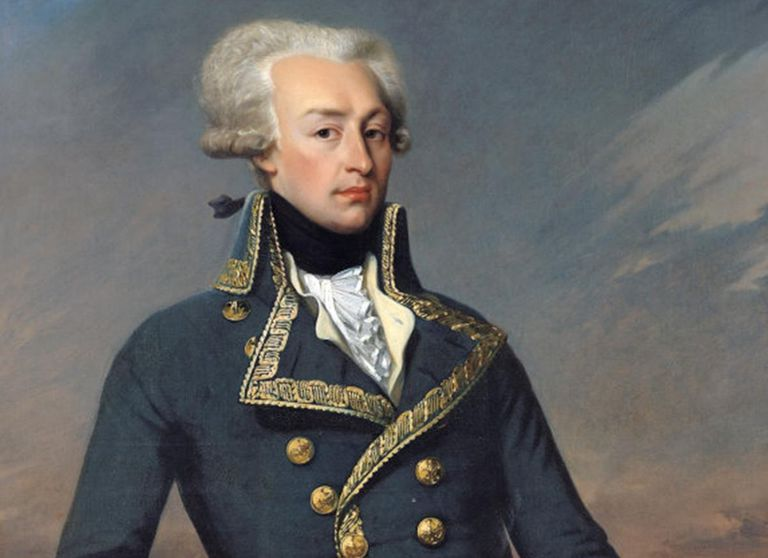 Portrait of the Marquis de Lafayette.