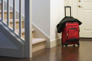 Suitcase in Foyer