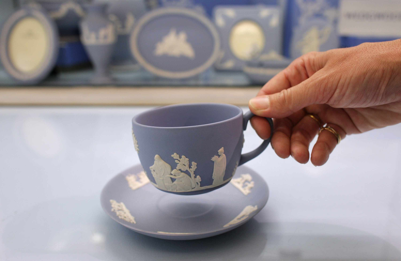 Jasper ware Wedgwood Blue Teacup