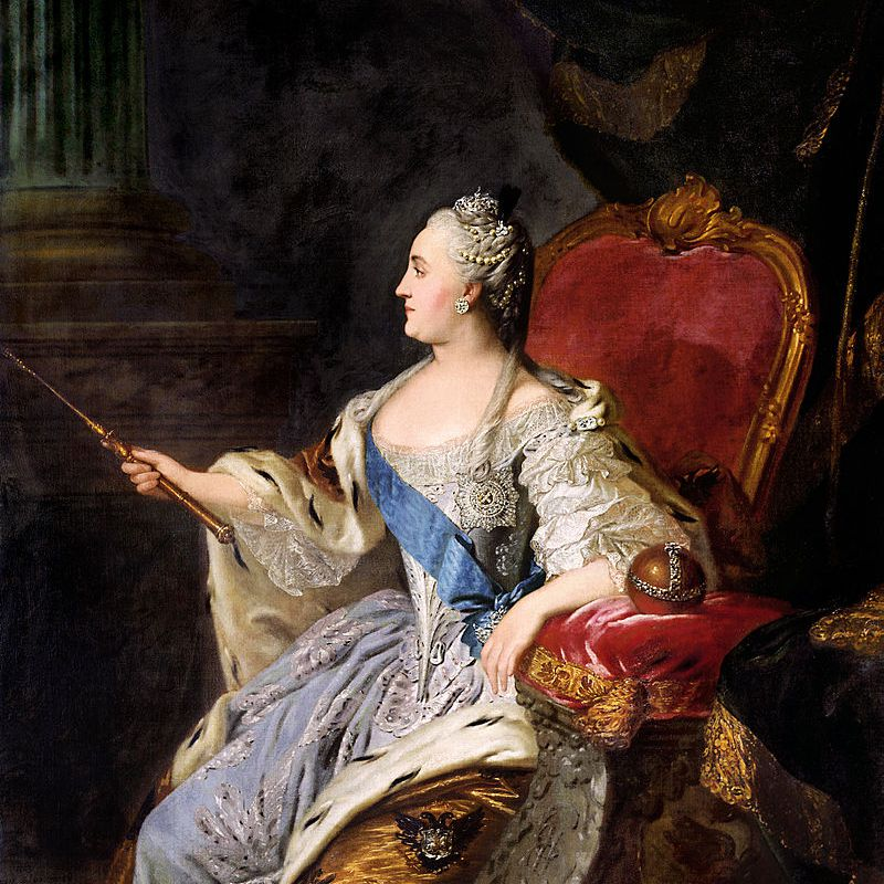 Catherine the Great by Fedor Rokotov