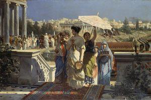 Scene of ancient Rome, 1901, by Prospero Piatti (1842-1902), oil on canvas, 66.5x105 cm