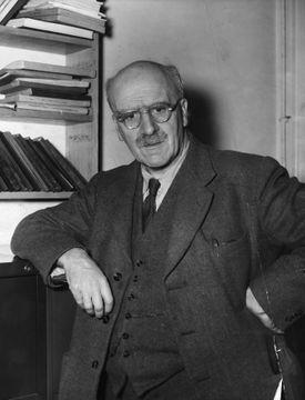 The Scottish geneticist Professor John Haldane (1892-1964) at University College London