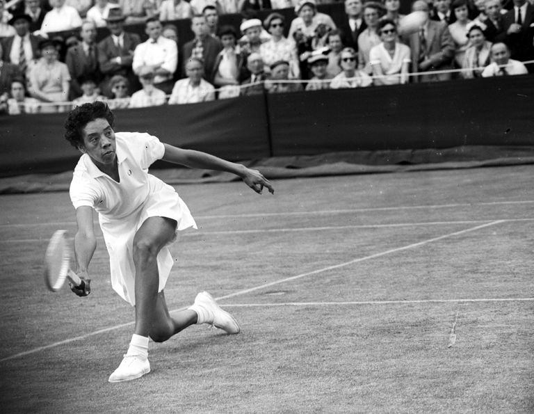 Althea Gibson at Wimbledon