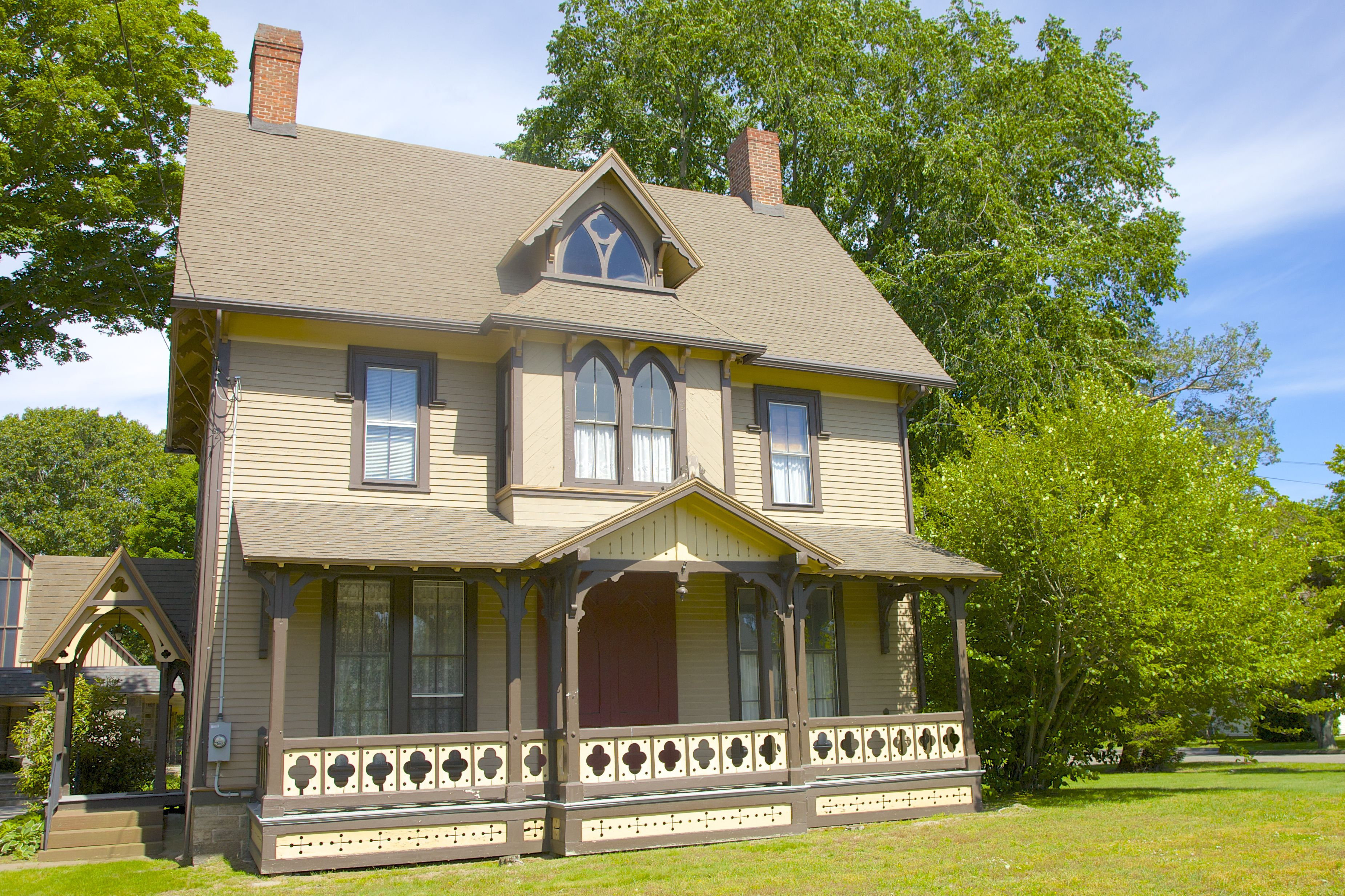 Gothic Revival Rectory c. 1873 in Old Saybrook, Connecticut