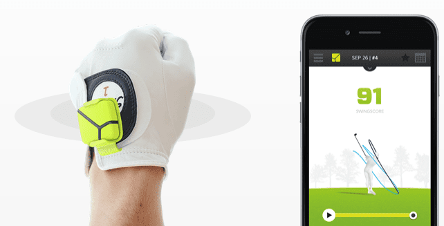 Zepp golf swing analyzer sensor and smartphone display