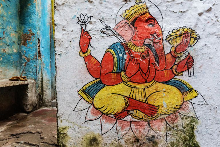 Hand drawn representation of god Ganesh