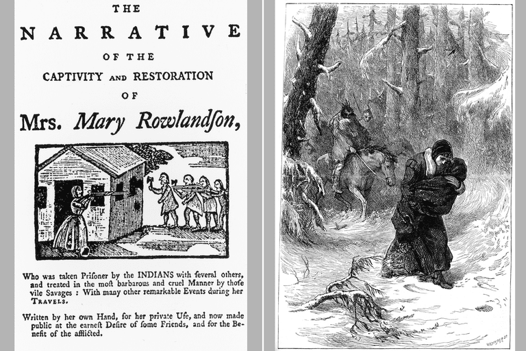 Mary Rowlandson Narrative: book cover and illustration