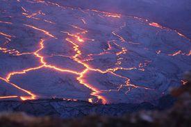 Surface of lava lake
