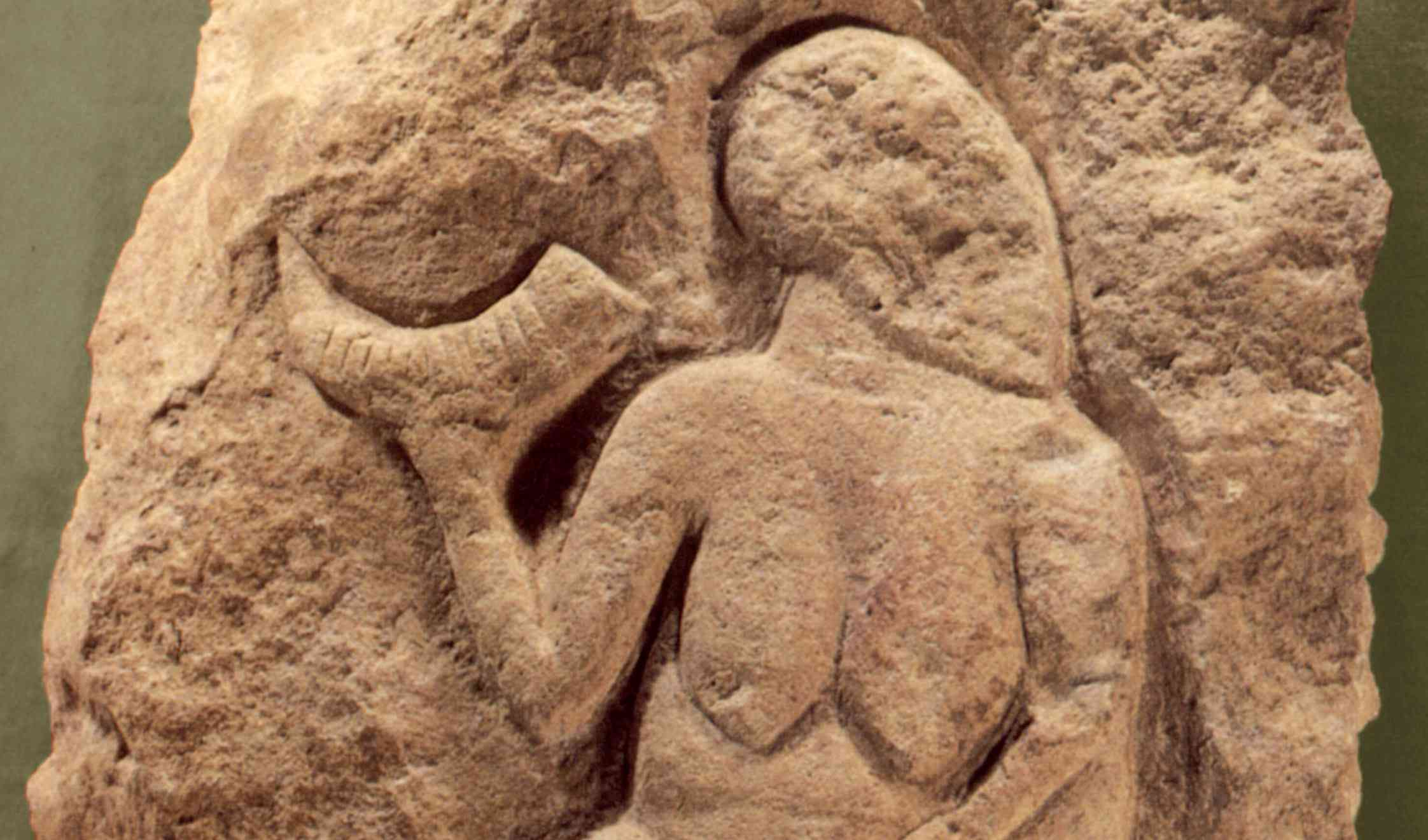 Laussel Venus, Upper Paleolithic Bas-Relief, ca. 25,000 Years Old