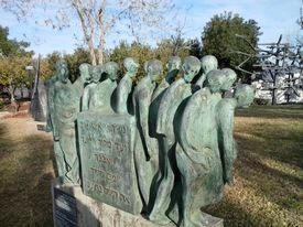 Monument depicting the death marches near the end of WWII.