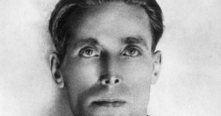 Joe Hill black and white close up photograph.