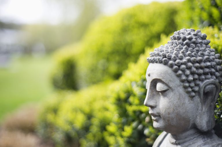 Statue of Buddha in a garden