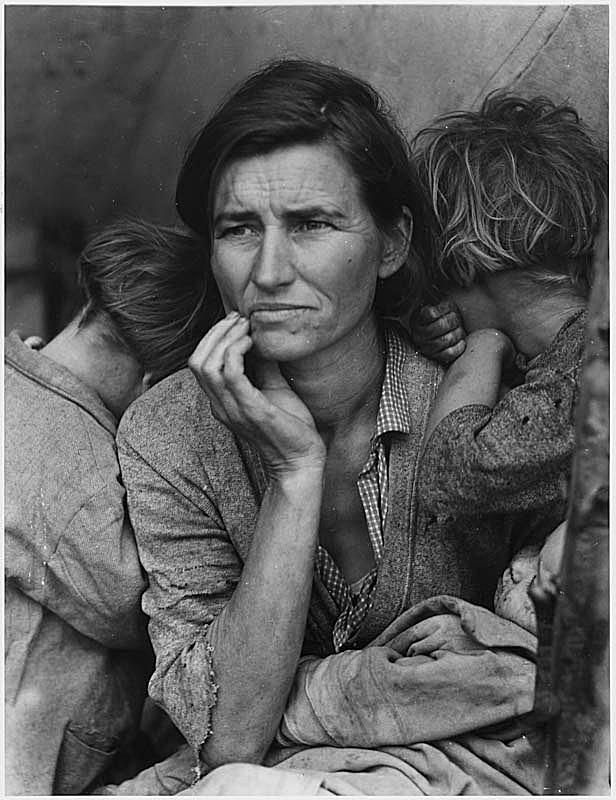 The famous picture of the great depression by dorothea lange mother of 7 children