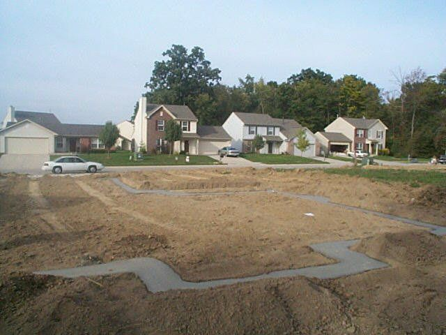Before construction begins, the lot is prepared on Karen Hudson's home