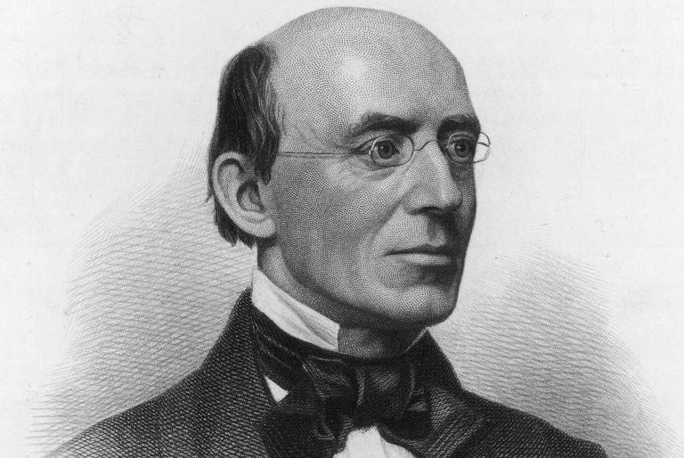 Engraved portrait of abolitionist William Lloyd Garrison