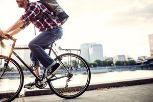 Bike Commuter in Portland Oregon