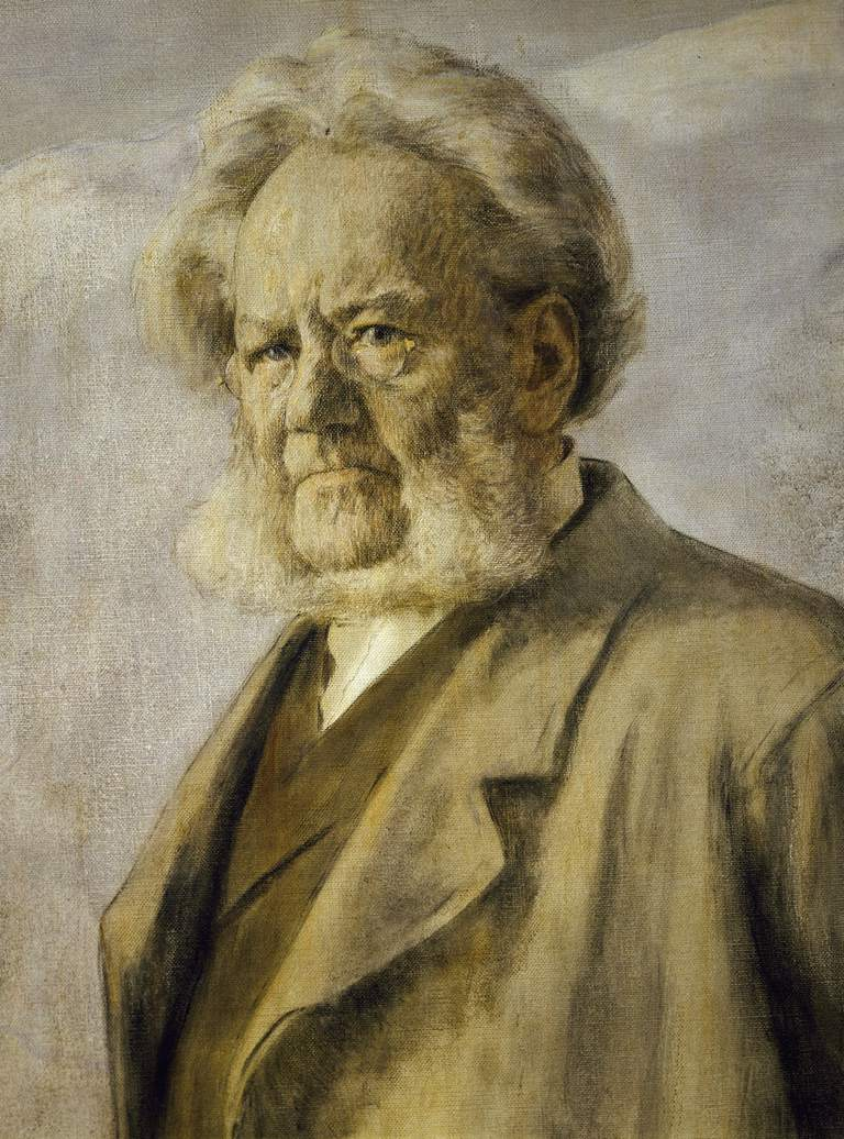 Portrait of Henrik Ibsen