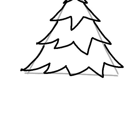 drawing more christmas tree branches - How To Draw A Christmas Tree Step By Step