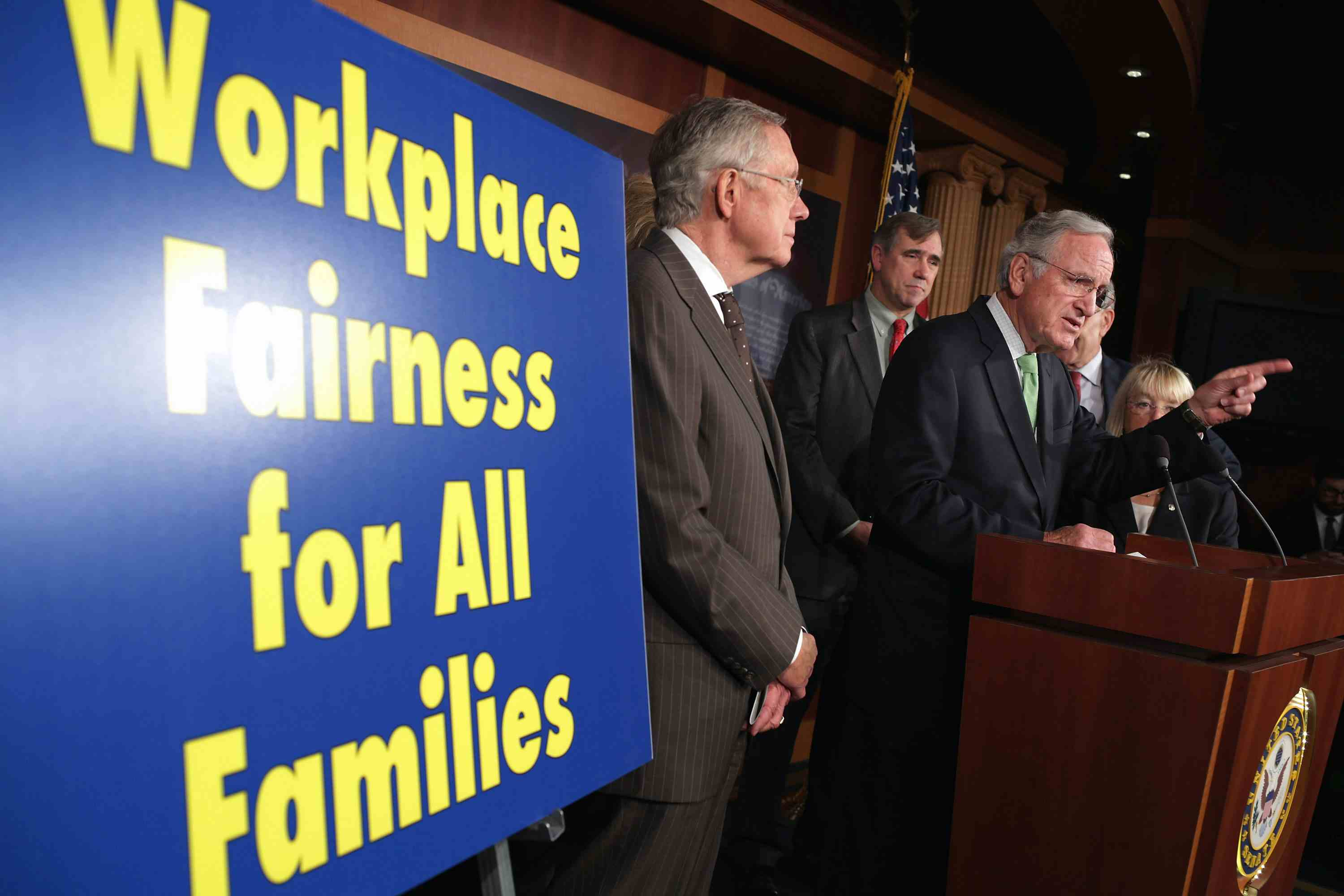 Senate Democrats Hold News Conference On Employment Non-Discrimination Act