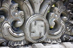 Swastika symbol at a hindu temple