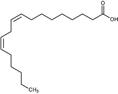 This is the chemical structure of linoleic acid.