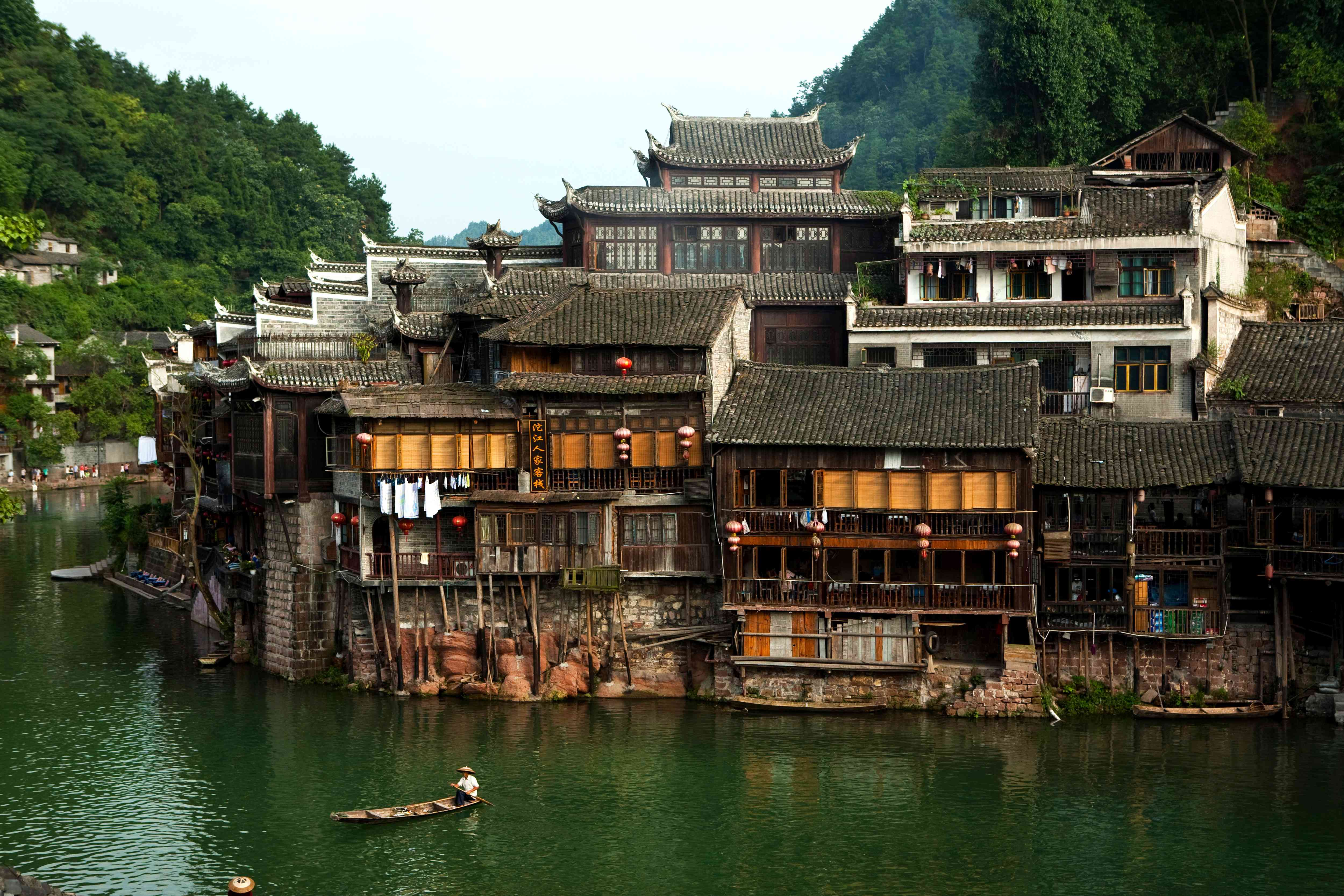 Fenghuang, one of the classic ancient river villages of Hunan, China