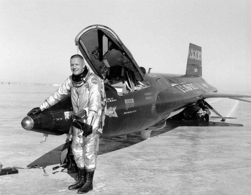 Neil Armstrong with X-15.