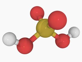 Sulfuric acid is a polyprotic acid, able to donate two hydrogen ions to aqueous solution.