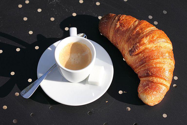 croissant and espresso